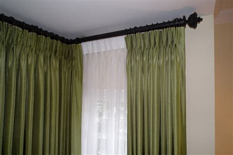 corner window curtain rod set best home design 2018