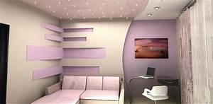 Decoration Faux Plafond : decoration placoplatre plafond salon ~ Melissatoandfro.com Idées de Décoration