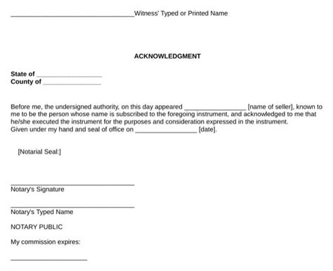 oklahoma personal property bill  sale form