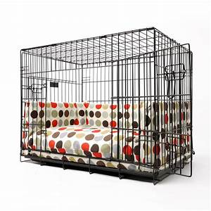 Crate mattress and bed bumper set by charley chau for Dog crate bumper set