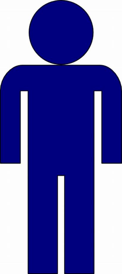 Bathroom Symbol Icon Clipart Dark Clip Male