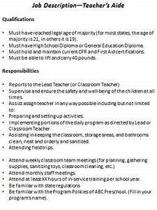 Child Care Director Job Descriptions Preschool Job Description Resource Templates