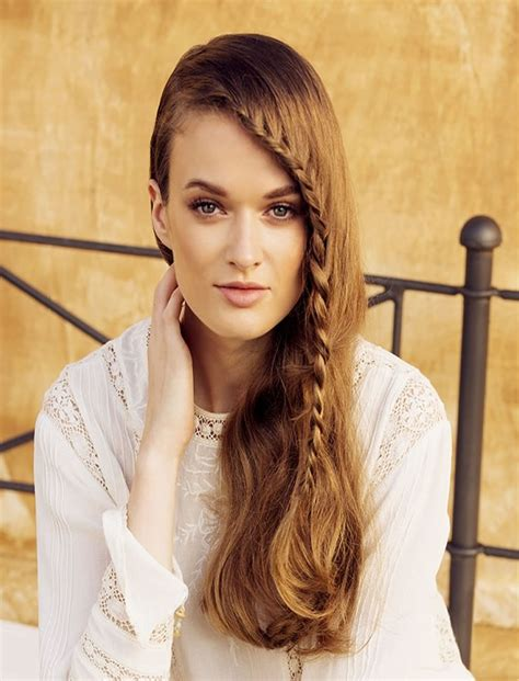 side braid hairstyles  long hair  stylish ladies