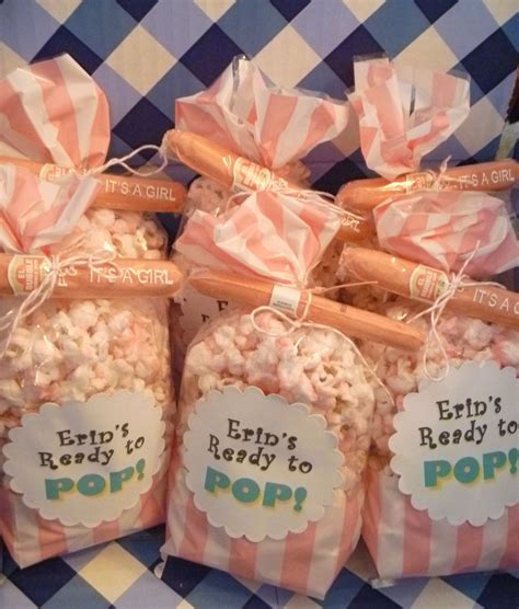 baby shower favors salty sweet delicious ready to pop popcorn baby shower