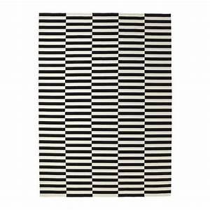 Tapis Ikea Noir Et Blanc : stockholm tapis tiss plat fait main ray noir blanc cass 250x350 cm ikea ~ Teatrodelosmanantiales.com Idées de Décoration