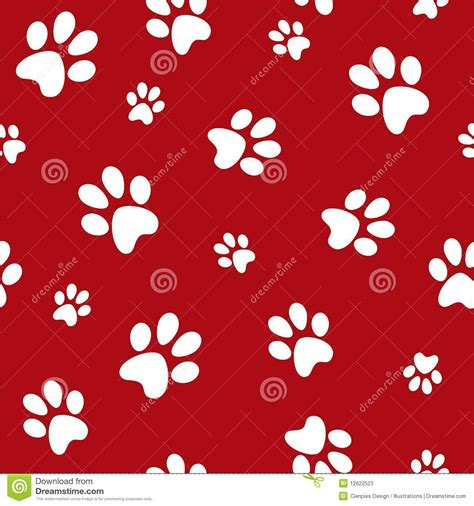 Cute Dog And Cat Wallpaper Huellas Del Perro Fotos De Archivo Imagen 12622523