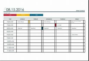 Weekly schedule template excel eskindriacom for Weekly itinerary template excel