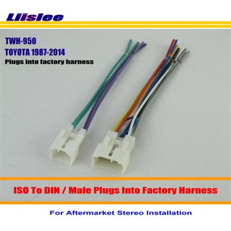 Liislee For Toyota Male Iso Radio Wire Cable