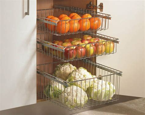 Wire Storage Baskets For Kitchen Cupboards by Chrome Pull Out Wire Baskets Kitchen Base Larder Units