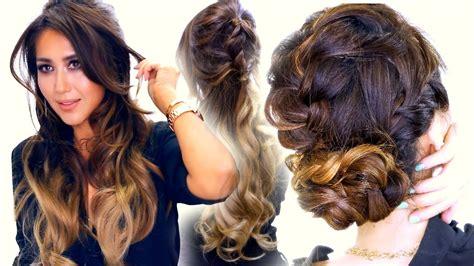 Half Hairstyles by 2 Summer Braid Hairstyles Half Updo Bun
