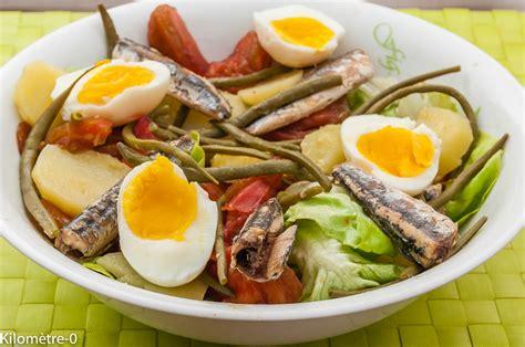 salade de pommes de terre tomate oeufs et anchois