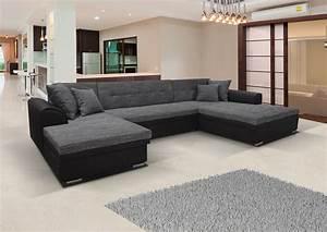 Couch U Form Grau : sofa couch ecksofacouchgarnitur sofa couch kaja schwarz grau bettkasten u form ebay ~ Indierocktalk.com Haus und Dekorationen