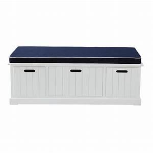 Banc De Rangement Maison Du Monde : banc de rangement blanc l 130 cm princeton maisons du monde ~ Premium-room.com Idées de Décoration