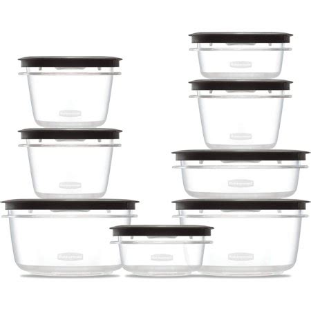 rubbermaid kitchen storage containers rubbermaid premier food storage container 16 set