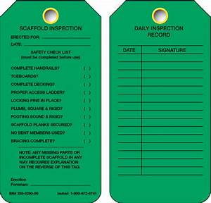 Scaffold tags bing images for Scaffold inspection checklist free template