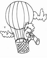 Balloon Coloring Air Pages Balloons Printable Basket Drawing Colouring Print Template Transportation Rider Getdrawings Popular Pdf Coloringhome sketch template