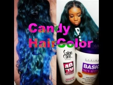 candy colored hair bleaching  coloring youtube