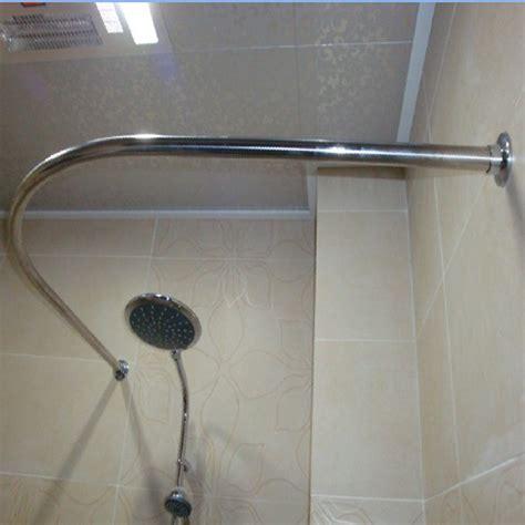 bathroom design simple curved curtain rod for modern