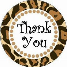 "Thank You Sticker  Leopard Print 1"" Round Stickers Ebay"