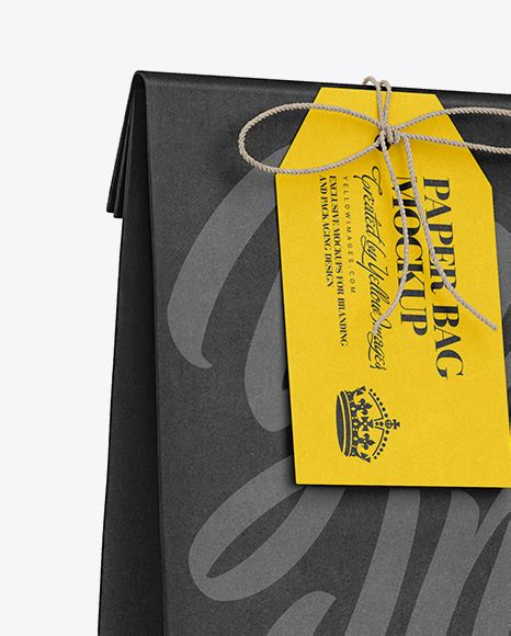 More than 100 categories, over 5000 mockups. Download Packaging Label Mockup PSD - Kraft Paper Bag W ...