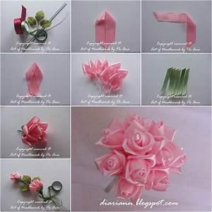 How to DIY Beautiful Satin Ribbon Rose