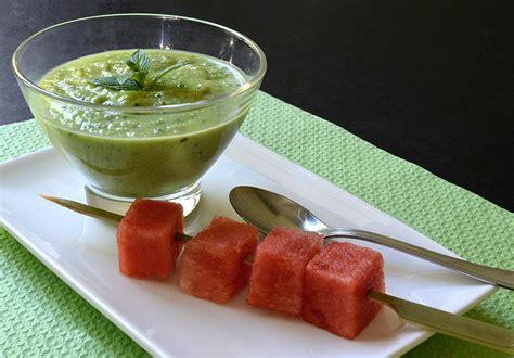 cuisine concombre soupe froide de concombre à la menthe ma cuisine santé