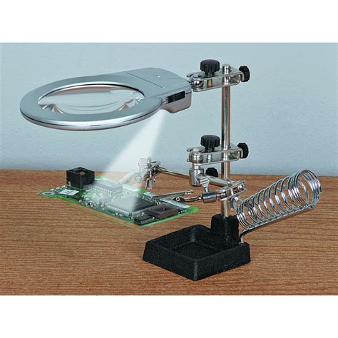 harbor freight magnifying l jumbo helping hands with led lights harbor freight tools