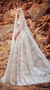 oksana mukha 2018 wedding dresses quarter sleeve With oksana mukha wedding dresses