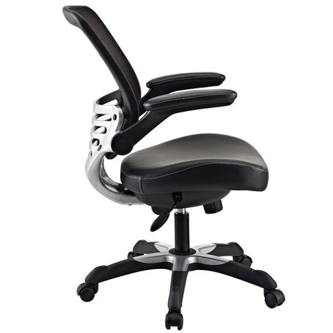 lexmod edge office chair with mesh back and