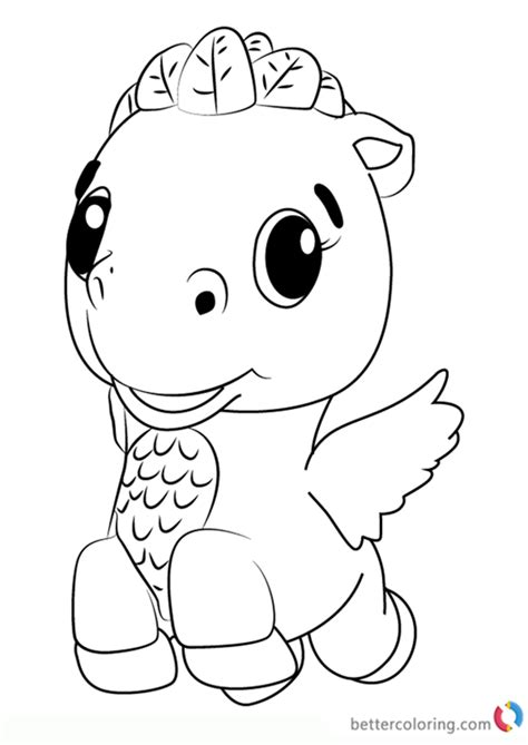 cloud ponette  hatchimals coloring pages printable
