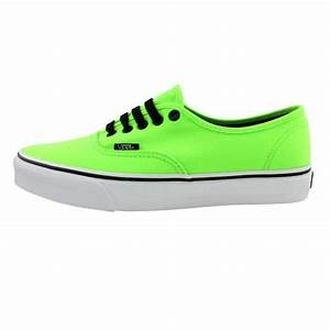 Shop for Vans Authentic Skate Shoe in Lime Green at