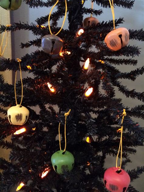 bell halloween ornaments   black tree