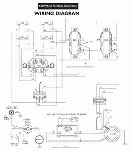 Snapper G62000 6200 Watt 11 Hp Generator  030216  Parts Diagram For Wiring Diagram