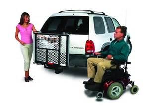 wheelchair assistance car roof top wheelchair lift