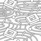 Coloring Rugs Cards sketch template