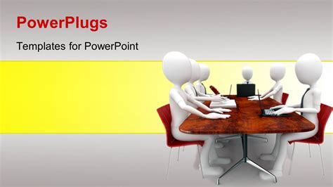 Conference Presentation Template Ppt by Powerpoint Template A Number Of Figures Sitting For A