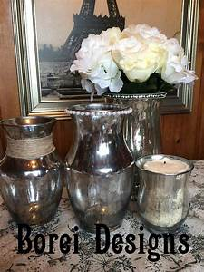 best 20 glass containers ideas on pinterest bath spa With best brand of paint for kitchen cabinets with diy mercury glass candle holders