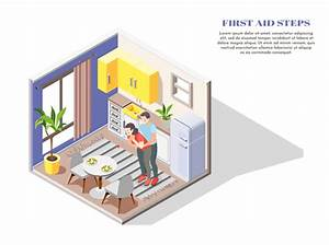Firsts Aid Steps For Food Poisoning Vector Illustration