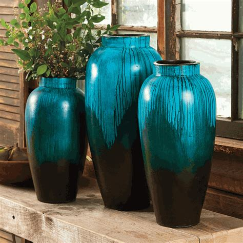 midnight waters pottery vase collection set