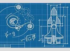 Rocket Blueprint Wallpaper Wall Mural MuralsWallpapercouk