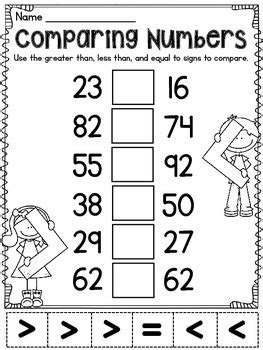 Greater Than Less Than Equal To Comparing Numbers Activities By Miss Giraffe