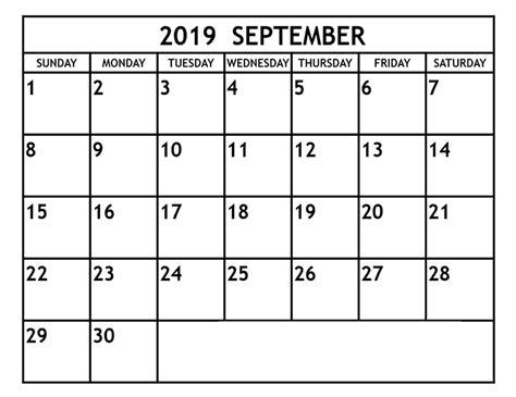 editable september  printable calendar blank templates