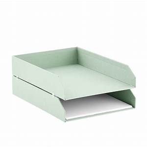 bigso mint stockholm stackable letter trays set of 2 the With stackable letter trays