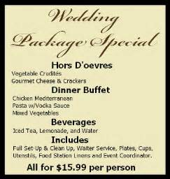 wedding catering prices arizona brown brothers catering