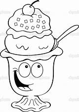 Ice Cream Sundae Cartoon Illustration Clipart Bowl Clip Coloring Vector Pages Illustrations Icecream Fotosearch Kenbenner Drawings Cliparts Graphics Drawing Library sketch template
