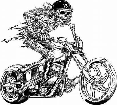 Biker Motorcycle Skull Skeleton Chopper Harley Davidson