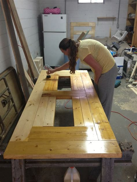 modified patio table  built  beerwine coolers ana