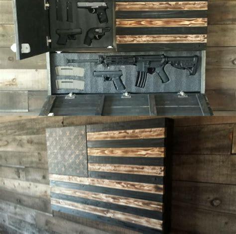 burnt large concealment flag wooden american flag weapon concealment cabinet stuff  buy