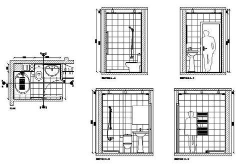 Bathroom Design Cad Blocks by Free Cad Drawing Of A Bathroom Design Cadblocksfree Cad