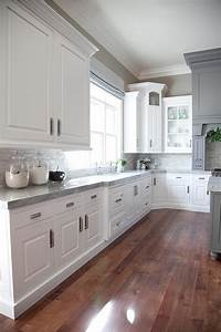 Gray and White Kitchen Design - Transitional - Kitchen